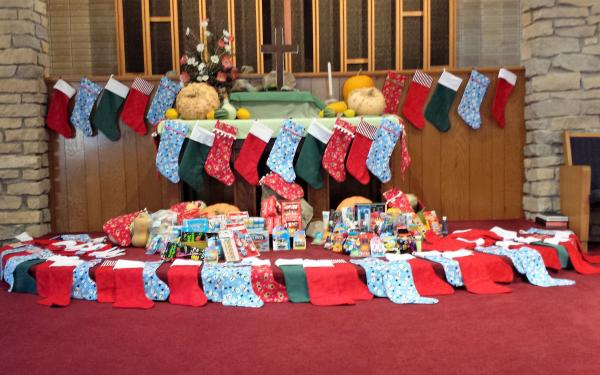 Stockings for Broadway Christian Parish Jubilee Day - dedicated Nov 13