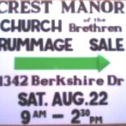 Neighborhood Rummage Sale Sign 2015